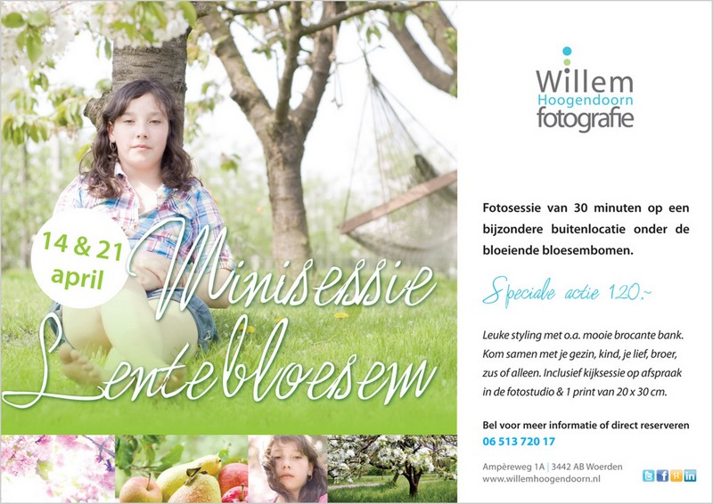 familiefotografie voorjaar buiten Willem Hoogendoorn Fotografie Woerden